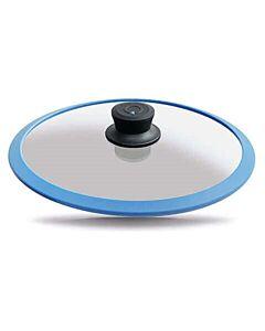 Gastrolux Squalit glasdeksel met silicone rand ø 28 cm blauw
