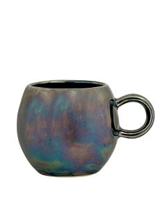 Bloomingville Paula kop ø 8,5 cm h 8 cm aardewerk blauw-olie