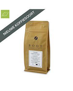 Boot Koffie Colombia Kachalu Organic Espresso Cafeïnevrije koffiebonen 250 gram