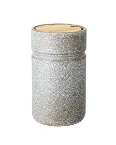 Bloomingville Hazel pot met deksel ø 11 cm h 19,5 cm aardewerk grijs