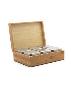 Bredemeijer theedoos met 6 blikjes bamboe