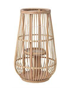 Broste Copenhagen Cait S lantaarn ø 30 cm h 50,5 cm bamboe-glas