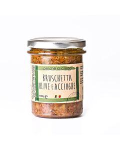 Perche Ci Credo Bruschetta Olive & Acciughe 190 gram