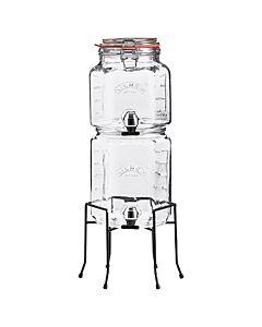 Kilner stapelbare drankdispenserset met houder 2 + 3 liter glas