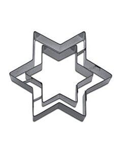 Städter uitsteekvorm met stempel ster 9,5 cm rvs