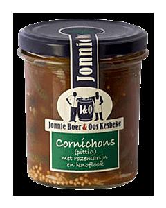 Jonnie Boer pittige cornichons met rozemarijn en knoflook