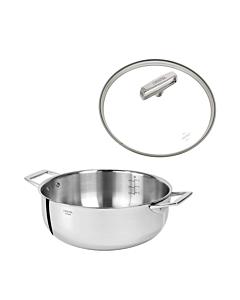 Cristel Castel'Pro wok-braadpan ø 24 cm rvs