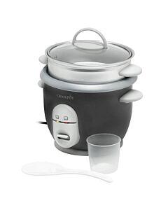 Crock-Pot rijstkoker met stoommand 3 kopjes metaal grijs