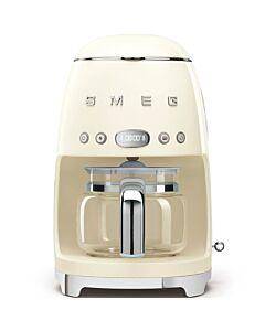 SMEG 50's style koffiezetapparaat kunststof crème