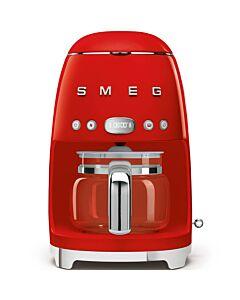 SMEG 50's style koffiezetapparaat kunststof rood