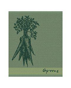 Oldenhof Greens handdoek 50 x 55 cm katoen groen