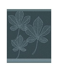Oldenhof Leaves handdoek 50 x 55 cm katoen oceaanblauw