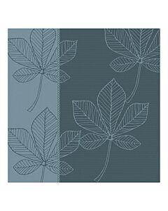 Oldenhof Leaves theedoek 60 x 65 cm katoen oceaanblauw