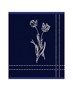 Oldenhof Lisse handdoek 50 x 55 cm katoen blauw