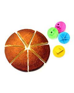 Cookut Party taartverdelers kunststof 4-delig
