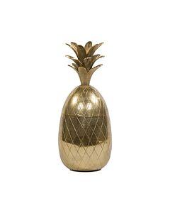 Oldenhof decoratie ananas 50 cm hoog goudkleurig
