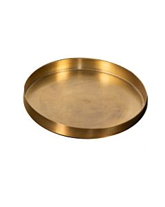 Oldenhof kaarsenplateau ø 25 cm goudkleurig