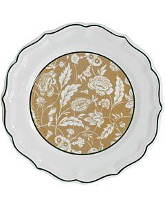 Gien Dominoté Indienne dessertbord ø 23,2 cm keramiek
