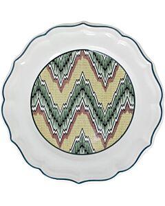 Gien Dominoté Louis XIII dessertbord ø 23,2 cm keramiek