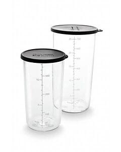 Bamix mengbeker set 400 + 700 ml glas zwart