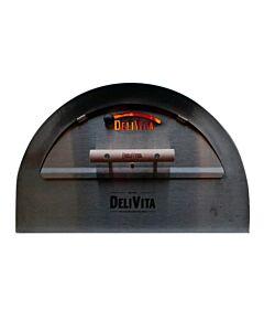 Delivita pizza-oven deur rvs