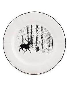 Gien Chambord Cerf forêt dessertbord ø 23,2 cm keramiek