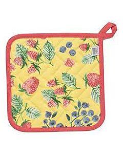 Now Designs Berry Patch pannenlap 20 x 20 cm katoen geel