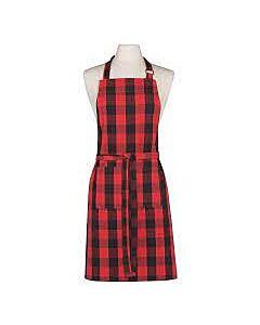 Now Designs Buffalo Check schort 85 x 70 cm katoen rood/zwart