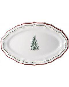 Gien Filet Noël ovale serveerschaal ø 41 x 26,2 cm keramiek