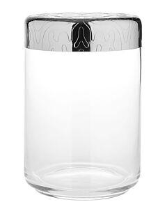 Alessi Dressed voorraadpot 1 liter rvs glas