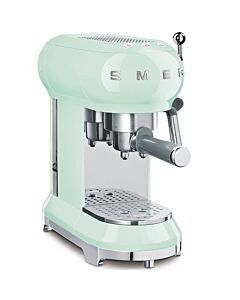 SMEG 50's style halfautomatische espressomachine watergroen