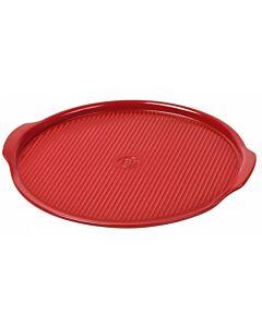 Emile Henry pizzasteen ø 33,8 cm aardewerk rood