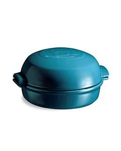 Emile Henry ovenschaal voor kaas 19,5 x 17,5 cm aardewerk blauw