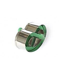 Städter uitsteekvorm krakeling 6,5 cm rvs groen