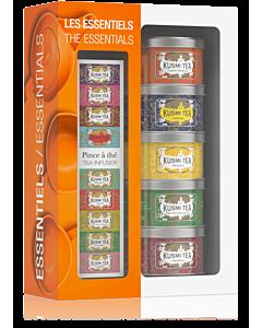 Kusmi Tea Essentials Giftset 5 x 25 gr met thee-ei
