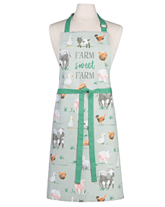 Now Designs Farmhouse schort 85 x 70 cm katoen groen