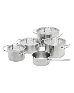 Fissler original-profi collection pannenset met steelpan en rvs deksels 5-delig