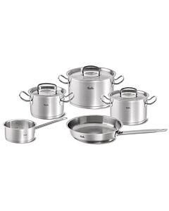 Fissler original-profi collection pannenset met steelpan, koekenpan en rvs deksels 5-delig