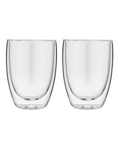 Forever dubbelwandige cappuccinoglazen 200 ml glas 2 stuks