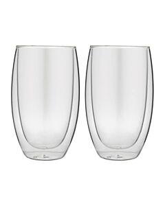 Forever dubbelwandige theeglazen 400 ml glas 2 stuks