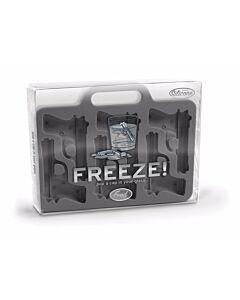 Fred Freeze ijsblokjesmaker 6 stuks silicone grijs