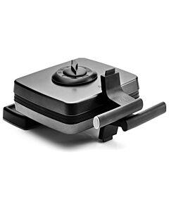 FriFri wafelijzer 2 thermostaten 33 x 22 cm metaal zwart