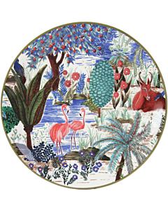 Gien Le Jardin du Palais Flamant Rose gebaksbord ø 17 cm keramiek