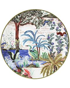 Gien Le Jardin du Palais Héron gebaksbord ø 17 cm keramiek