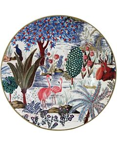 Gien Le Jardin du Palais soep- en pastabord ø 22 cm keramiek