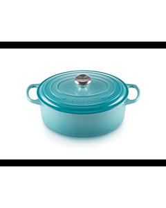 Le Creuset Signature braadpan ovaal 4,7 liter ø 29 cm gietijzer Caribbean Blue