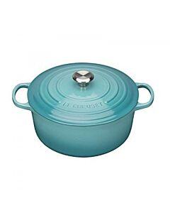 Le Creuset Signature braadpan 4,2 liter ø 24 cm gietijzer Caribbean Blue