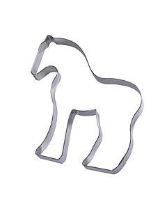 Gobel uitsteekvorm paard 15 cm rvs glans