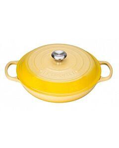 Le Creuset multifunctionele braadpan met zwarte binnenzijde ø 30 cm gietijzer Soleil
