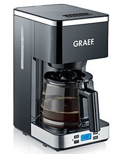 Graef filterkoffiemachine met glazen kan 1,25 liter zwart